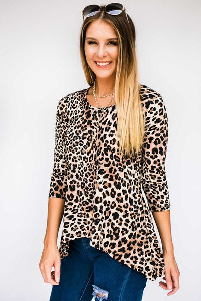 Top Wild Thing Cheetah Print Top - Lotus Boutique