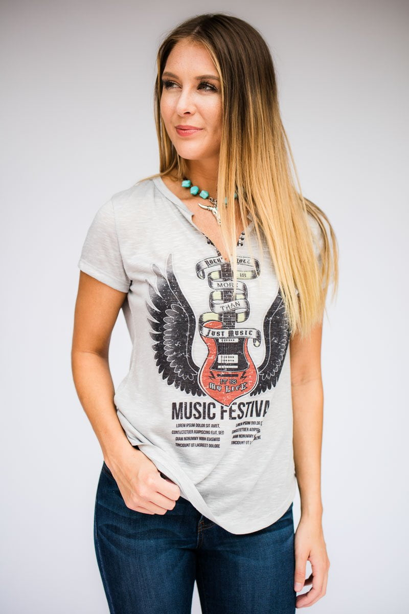 More Than Just Music Rocker Graphic Tee