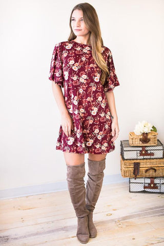 Believe Smock Cold Shoulder Dress