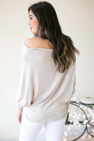 Stand Firm Stone Off One Shoulder Top