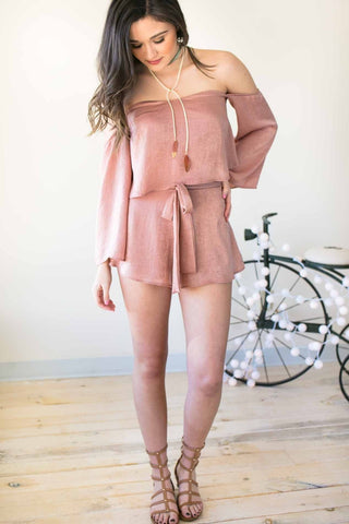 Tap Into The Frequency Mauve Satin Set - Shorts