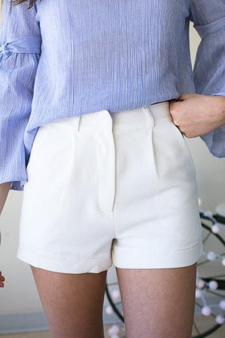All Of Me Fully Lined White Shorts