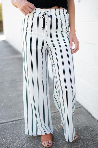 Written in the Stars Stripe Ivory Pants