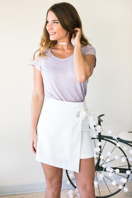Love Me Forever Wrap Skirt - White