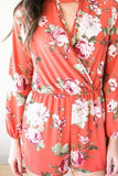 Follow My Lead Floral Choker Neck Romper