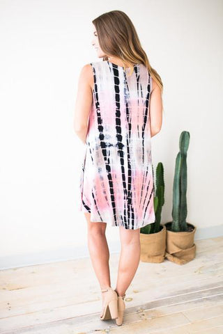 Never Too Much Tie Dye Tunic Dress