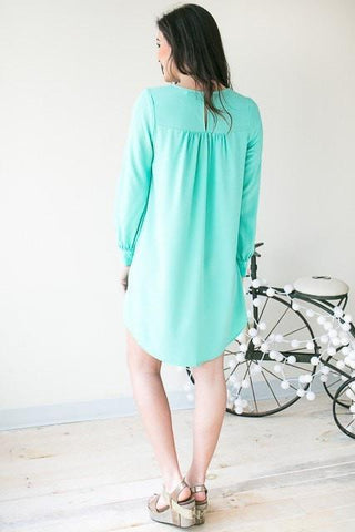 9 To 5 Criss Cross Front Dress - Mint