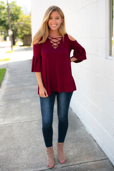 Tops Walking On a Dream Criss Cross Top - Lotus Boutique