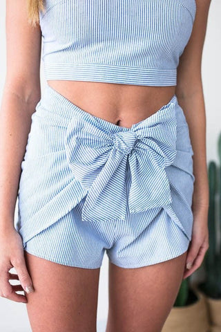 All On Me Bow Matching Set - Shorts
