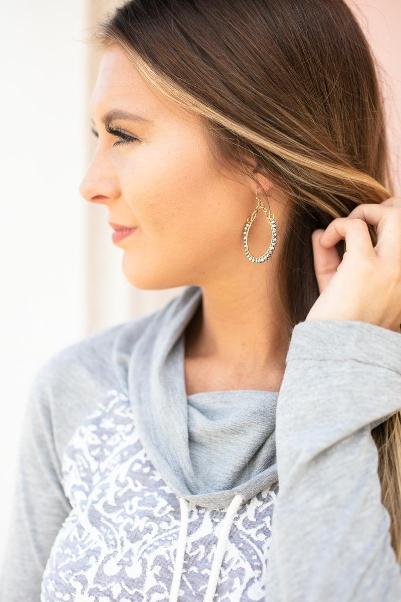 Accessories Shine Your Light Round Silver Bead Earrings - Lotus Boutique
