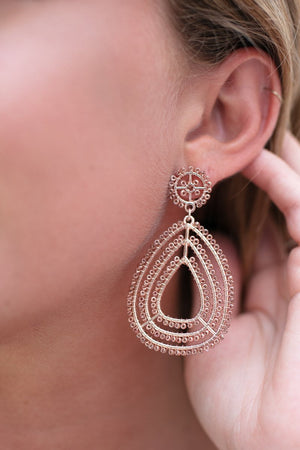 Switching Time Zones Rose Gold Earrings