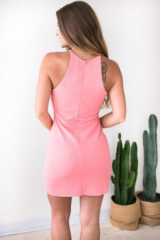 Fresh Envelope Light Coral Bodycon Dress