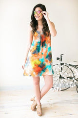 All Of These Colors Watercolor Strappy Dress