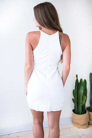 Fresh Envelope White Bodycon Dress