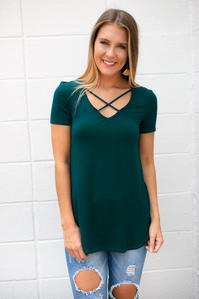 Cross Front Basic Top