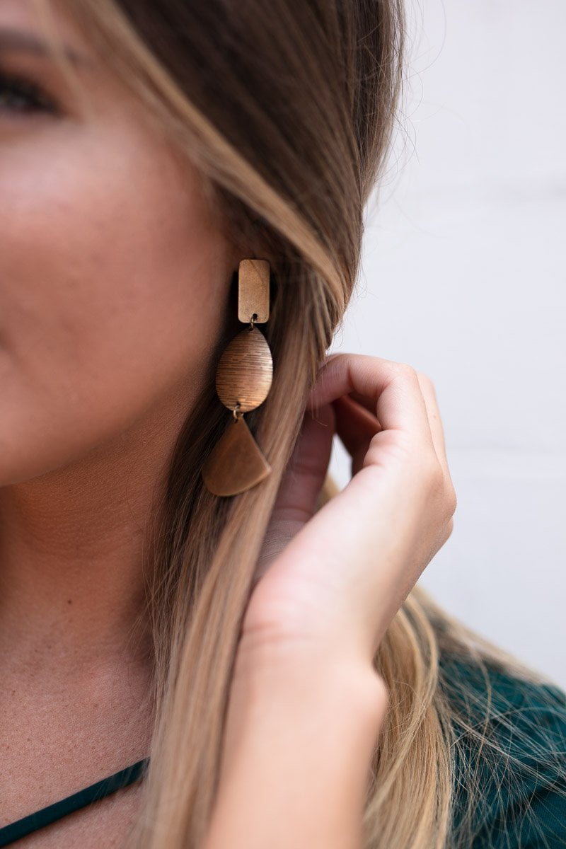 Why Wait Gold Geometric Earrings