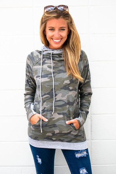 Camo Double Layer Hoodie