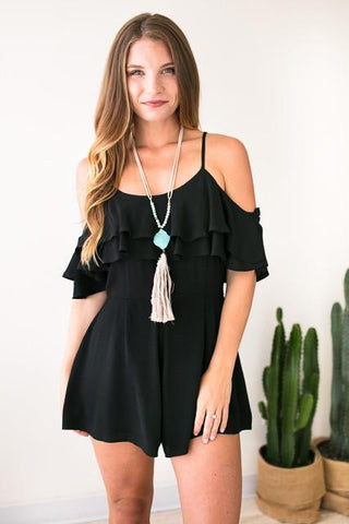 If Only You Knew Black Romper
