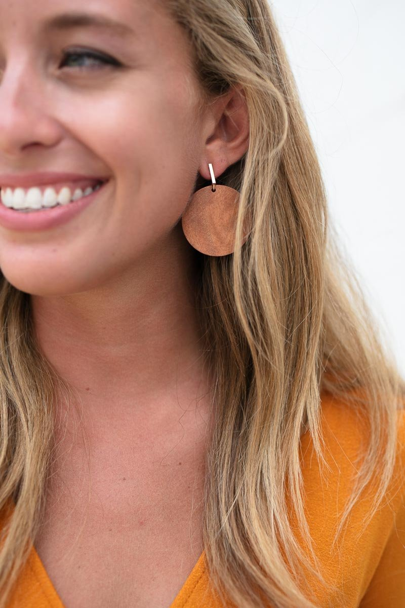 Ahead of the Game Modern Wooden Earrings