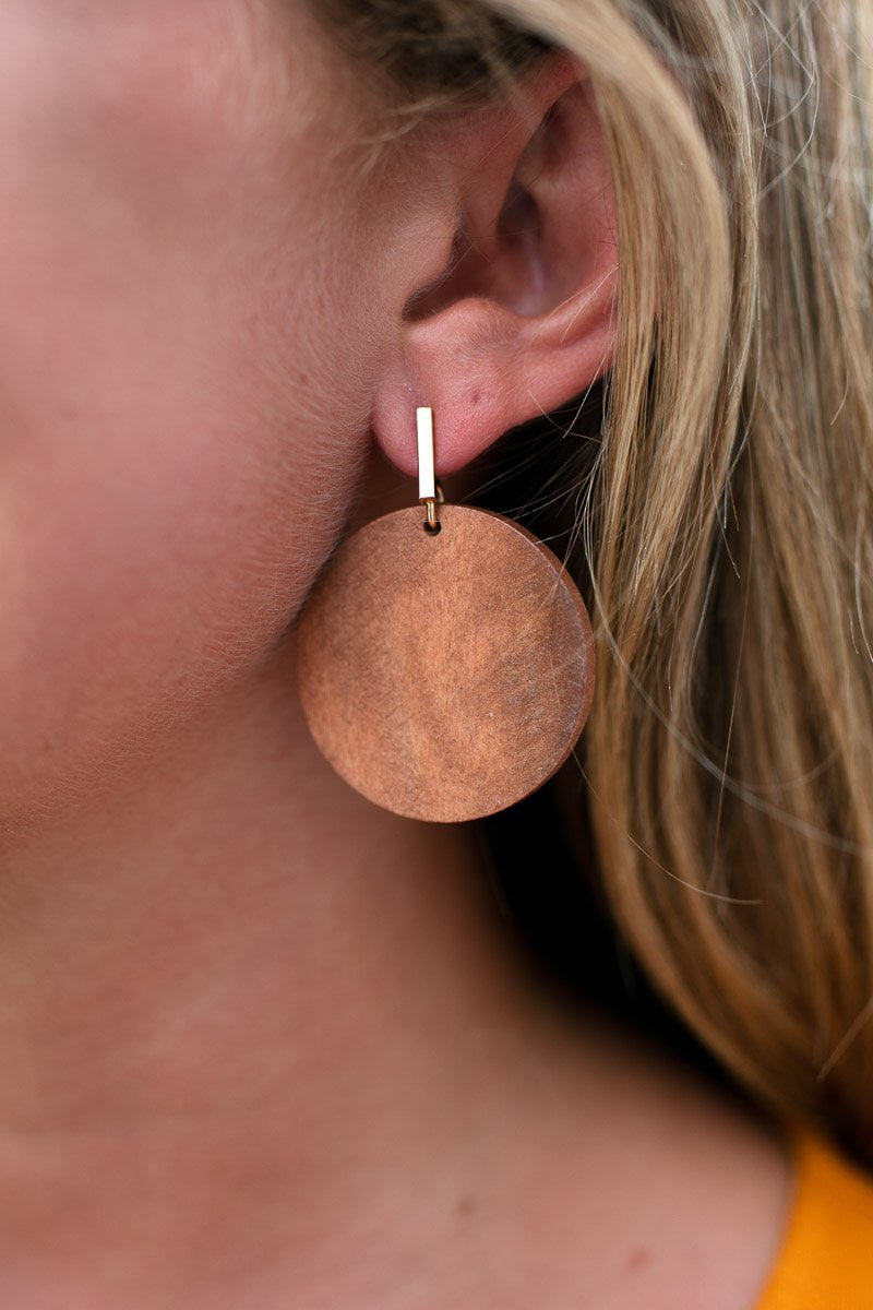 Accessories Ahead of the Game Modern Wooden Earrings - Lotus Boutique