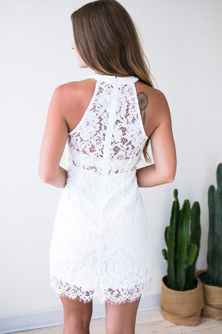 Match Maker White Lace Dress