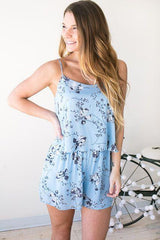 Blue Jay Haven Floral Romper