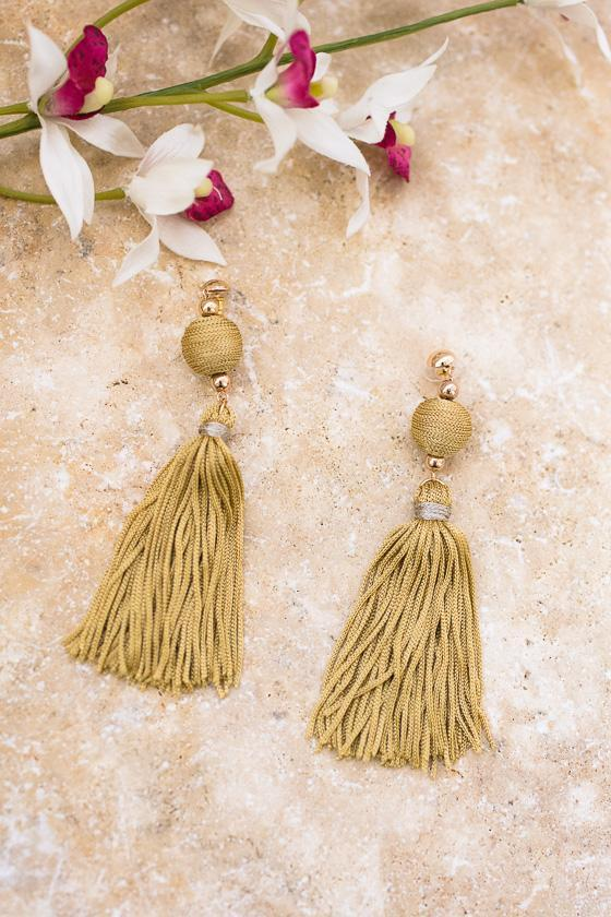 Kate Tassel Earrings-Accessories-Lotus Boutique-Lotus Boutique