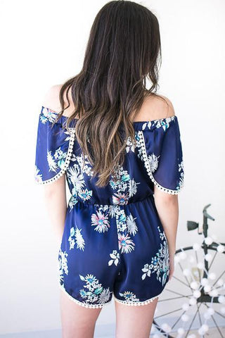 Just Another Day Floral Romper