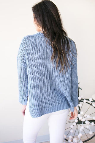 Same Wave Lengths Cable Knit Sweater