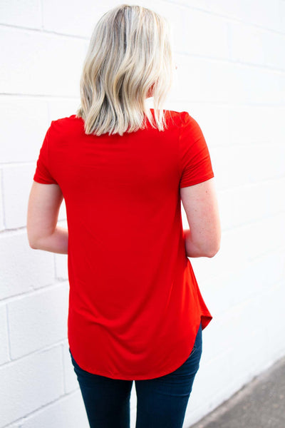 Criss Cross Red Top