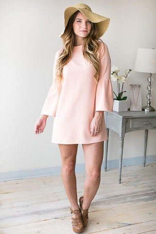 Picking Peaches Bell Sleeve Shift Dress