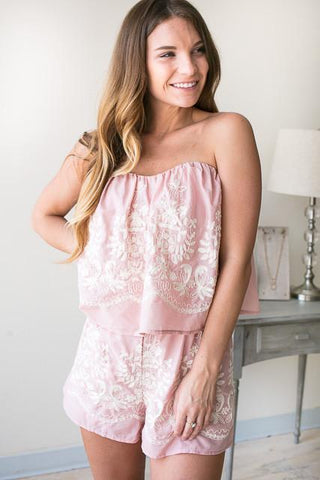 Dream Land Embroidered Romper