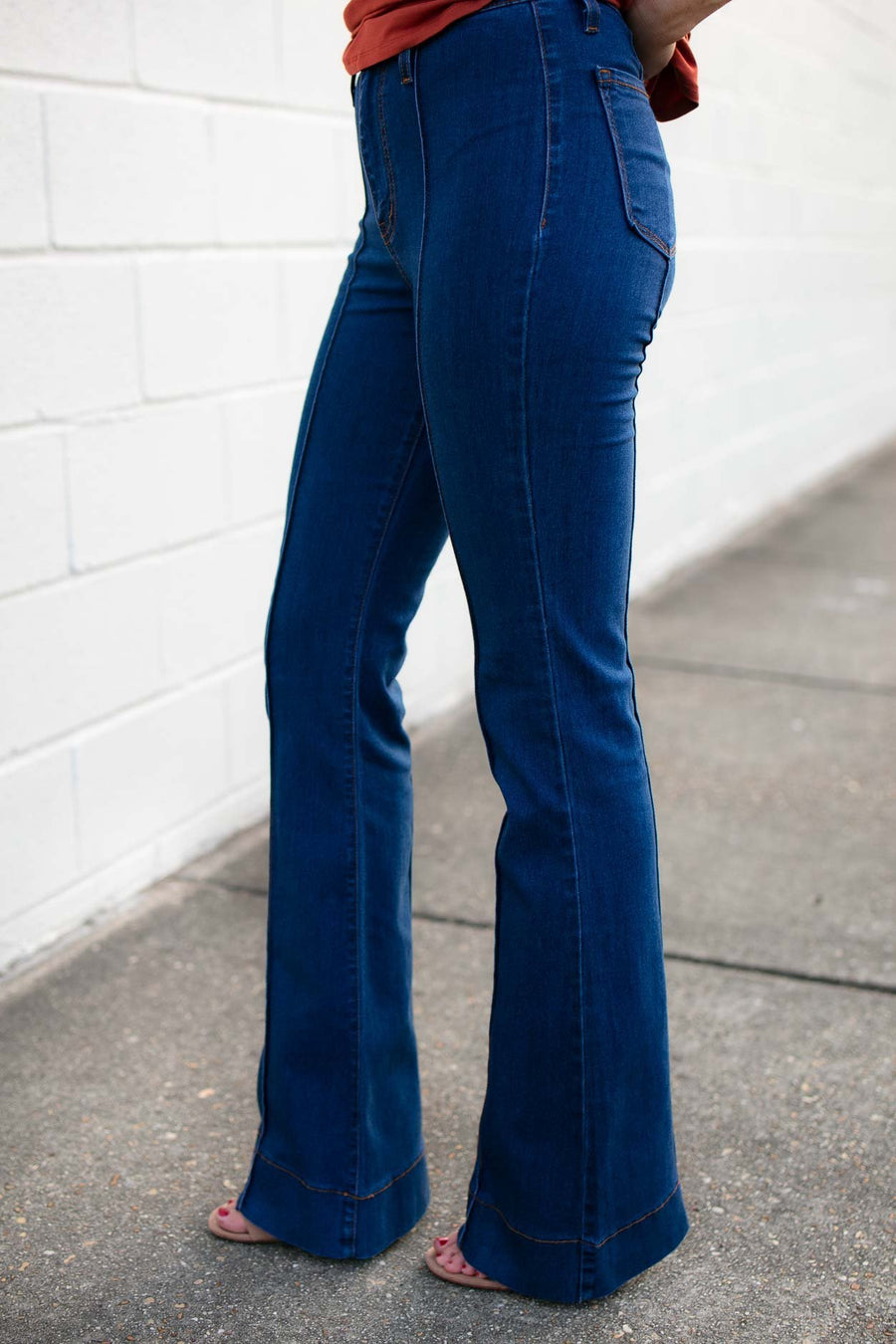 Bottoms And So It Goes Retro Flare Jeans - Lotus Boutique