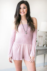 Sunset Lover Smock Romper - Blush