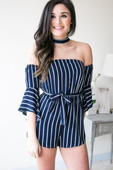 Be the One Choker Neck Romper