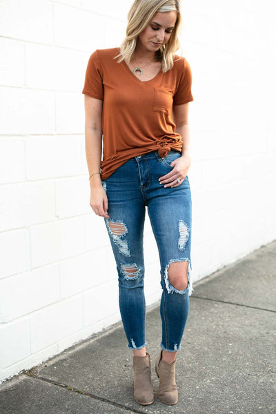 Bottoms Sending Out an SOS Distressed Jeans - Lotus Boutique