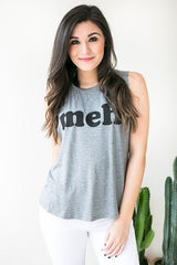 Meh Grey Graphic Tank