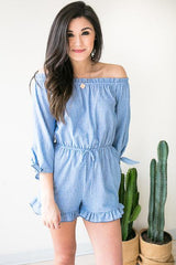 Ice Melts Stripe Romper - Blue