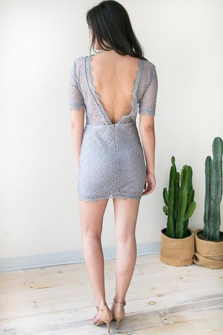 Charlotte Lace Open Back Dress