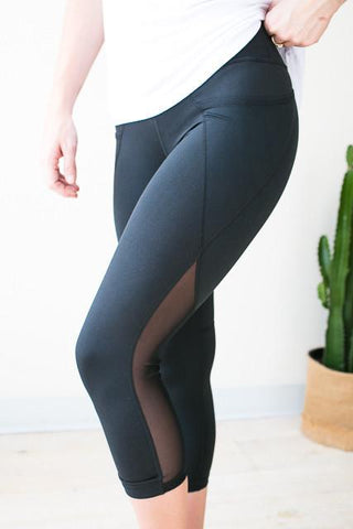 Side Pocket Mesh Athletic Pants