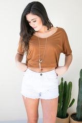 Summer's Day White High Waist Shorts