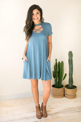 XX Cut Out Dress with Pockets