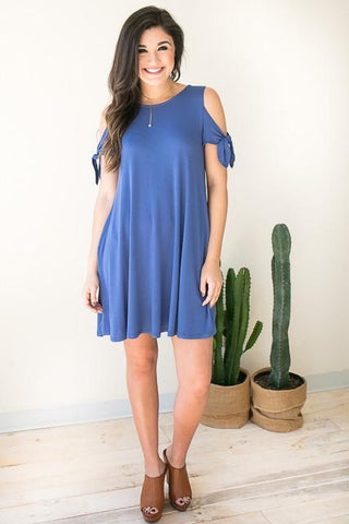 Dancing Tie Sleeve Dress with Pockets