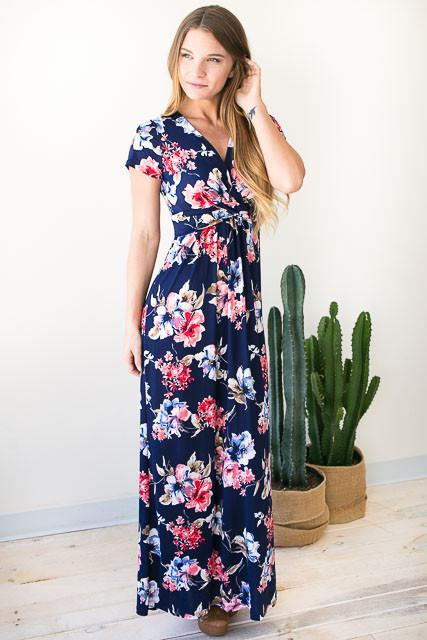 Spring in the Air Floral Maxi Dress-Dresses-Lotus Boutique-Lotus Boutique
