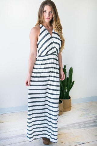 Braid Party Stripe Maxi Dress