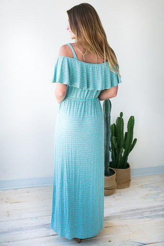 Trips to the Bay Stripe Maxi Dress