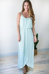 Twist Sleeve Wrap Maxi Dress