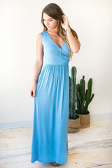 Keep It Simple Blue Maxi Dress