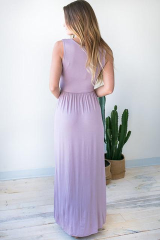 Keep It Simple Lavender Maxi Dress