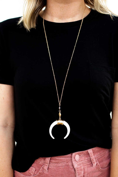 Accessories Rumors Crescent Horn Necklace - Lotus Boutique